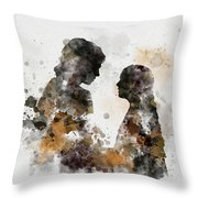 Anakin And Padme Throw Pillow