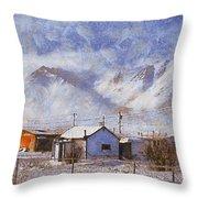 Anaktuvuk - Eskimo Village Throw Pillow