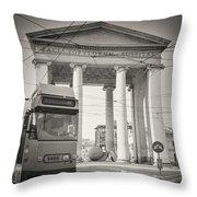 Analog Black And White Photography - Milan - Porta Ticinese Throw Pillow
