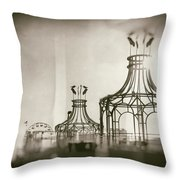 Analog On The Pier Throw Pillow by Michael Hope