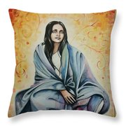 Ananda Mayi Ma Throw Pillow