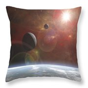Ananke Throw Pillow by Mark T Allen