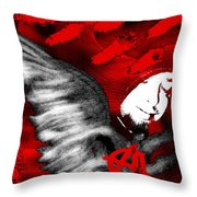 Anarchy Angel Throw Pillow