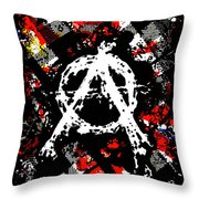 Anarchy Punk Throw Pillow