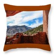 Anasazi Cliff Dwellings #21 Throw Pillow