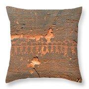 Anasazi Dancers Throw Pillow