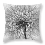 Anatomy Of A Weed Monochrome Throw Pillow
