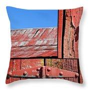 Anatomy Of An Old Barn- Fine Art Throw Pillow