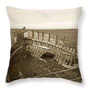 Anatomy Of An Old Boat Throw Pillow
