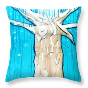 Ancestral Tree Indians To The Sea Throw Pillow
