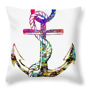 Anchor-colorful Throw Pillow