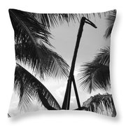 Anchor In Black And White Throw Pillow