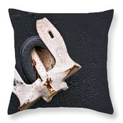 Anchor Stowed Throw Pillow