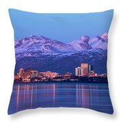 Anchorage Lights Throw Pillow