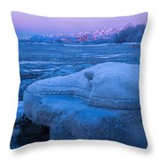 Anchorage Icebergs Throw Pillow