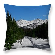 Anchorage Mountains Throw Pillow