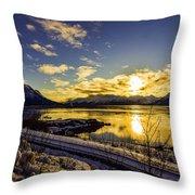 Anchorage Sunrise Throw Pillow