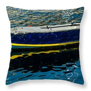 Anchored Boat Throw Pillow