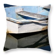 Anchored In The Harbor Throw Pillow