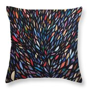 Anchovies  Abstract Fish Throw Pillow