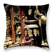 Ancient Antiq In Kathamandu Nepal Throw Pillow