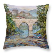 Ancient Bridge Throw Pillow