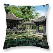 Ancient Chinese Architecture Throw Pillow