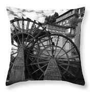 Ancient Chinese Waterwheels Throw Pillow