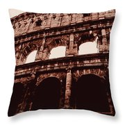 Ancient Colosseum, Rome Throw Pillow