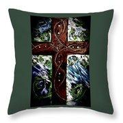 Ancient Cross Throw Pillow