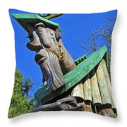 Ancient Forester II. Throw Pillow
