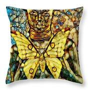 Ancient Goddess The Mother Throw Pillow