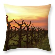 Ancient Golden Vines And Mustard Throw Pillow