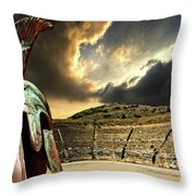 Ancient Greece Throw Pillow by Meirion Matthias