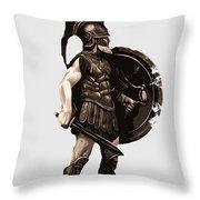 Ancient Greek Hoplite Throw Pillow