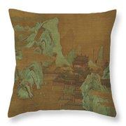 Ancient Landscape Throw Pillow