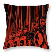 Ancient Macedonian Phalanx Throw Pillow