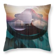 Ancient Of Days - After William Blake Throw Pillow