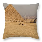 Ancient Of Times - Modern Of Times Throw Pillow