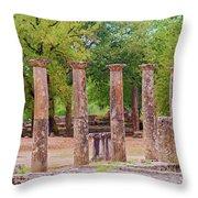 Ancient Olympia, Greece. Throw Pillow