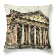 Ancient Pantheon Throw Pillow