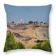 Ancient Pergamon Acropolis Throw Pillow
