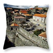 Ancient Portuguese Cities Throw Pillow