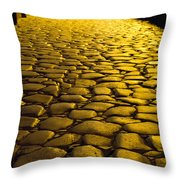 Ancient Roadway Throw Pillow