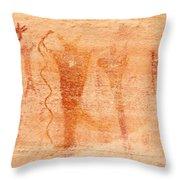 Ancient Rock Art 2 Throw Pillow