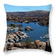 Ancient Rocks Throw Pillow