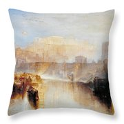 Ancient Rome - Agrippina Landing With The Ashes Of Germanicus Throw Pillow