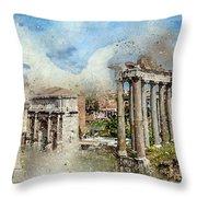 Ancient Rome II Throw Pillow