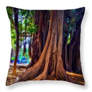 Ancient Roots Of Sicily Throw Pillow