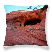 Ancient Ruins Mystery Valley Colorado Plateau Arizona 01 Text Throw Pillow